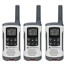 Motorola Talkabout T260tp Two-way Radio, 25 Mile, 3 Pack, White