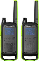 Motorola Talkabout T801 Two-way Radio 35 Mile 2 Pack Bluetooth Black And Green
