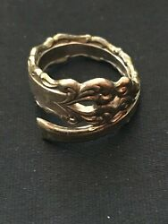 Sterling Silver Spoon Ring 1970s @us Size 5