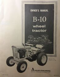 Allis Chalmers B-10 Lawn Riding Garden Tractor Owners Manual Simplicity Briggs