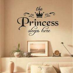 Removable The Princess Sleep Here Vinyl Wall Sticker CL Room Sticker Decal A9P7