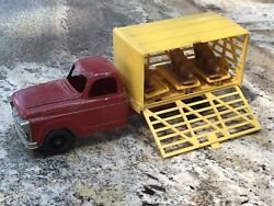 Hubley Stockyard Truck Boxed Truck With Pigs.