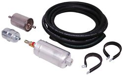 Msd Atomic Electric Inline Fuel Pump Kit With Hose And Filter For Efi, Universal