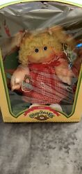 Vintage Coleco Cabbage Patch Doll 1985 Rare Blonde Hair Pigtails Blue Eyes Cute