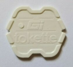 Gi Tokette Laundry Tokens - White Type I - 25 To 1000 Free🍁canadian🍁shipping