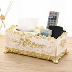 Home Table Decor Tissue Box With Rack Acrylic Removable Tissues Europe Style New