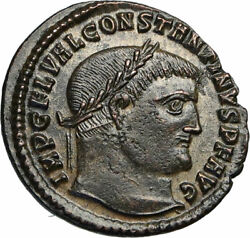 Constantine I The Great Authentic Ancient 315ad Roman Coin Jupiter Eagle I84513