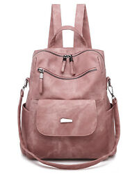 Fashion Leather Backpack Purse Casual Convertible Travel Shoulder Satchel Bags $25.99