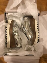Brand New Authentic Stella Mccartney Silver Elyse Star Shoes Euro Size 36 Us 6