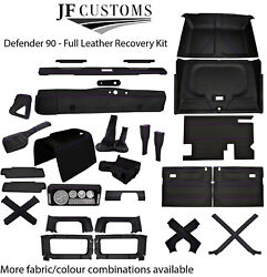 Purple Stitch Leather Covers For Defender 90 83-06 Full Interior Upholstery Kit