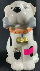 Vintage Ceramic Doggie Cookie Jar King Fong Pottery Corp