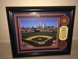Chicago Cubs Wrigley Field Game Used Infield Dirt Photo 24k Gold Coin Mlb New