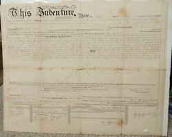 1829 Antique Deed Lebanon Pa George Smith To Peter Focht