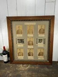 Antique Rifle Team 5th Infantry Original Cabinet Photos Matted And Framed 1887