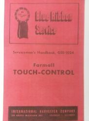 Farmall International Cub Super-a C Touch-control Tractor Parts And Service Manual