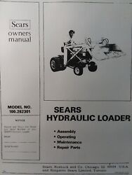 Sears Kwik-way Front Loader Garden Tractor Owner, Assembly And Parts 3 Manual S