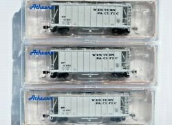 Western Pacific. 3 X N Scale 40' 2600 Cf Airslides Early. New. Athearn.