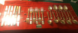 Oneida Silverplate Genesee Mixed Lot 21 Pieces Knives Forks Spoons