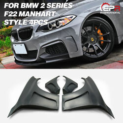 For Bmw F22 Manhart Style Wide Body Frp Unpainted Front Fender 4pcs