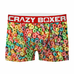 Fruit Loops All Over Men#x27;s Boxer Briefs Shorts Multi Color $17.98
