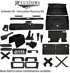 Grey Stitch Leather Covers For Defender 90 83-06 Full Interior Upholstery Kit