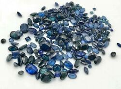 Lot Of 280 Loose Faceted Sapphires 65.24 Tcw Removed From Gold Scrap