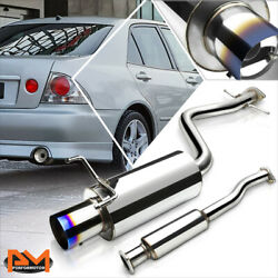 For 01-05 Is300 Altezza Xe10 3.0l 4burnt Tip Muffler S.s Catback Exhaust System