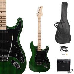 New Beginner Green Electric Guitar Kit With Amp And Accessories