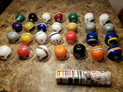 Complete Set Of 28 Vintage Nfl Mini Laich Football Helmets 4x4 1979 70and039s