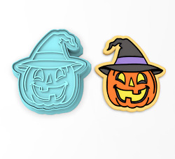 Pumpkin With Witch Hat Cookie Cutter And Stamp | Jack O' Lantern Halloween Autumn