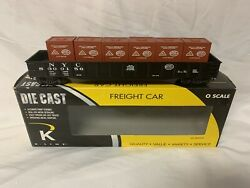 ✅k-line By Lionel Die Cast New York Central Gondola Car W/ Crates O Scale Nyc