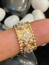Vintage 0.90 Cts Round Brilliant Cut Diamonds Anniversary Band Ring In 18k Gold