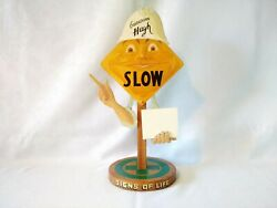 Counter Sign Andndash Slow - Hand Made Painted And Signed Andndash 1940andrsquos - Guardian Hugh