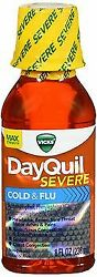 Vicks Dayquil Severe Cold And Flu Liquid Max Strength Berry Flavor 8 Fl Oz 24pk
