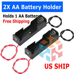 Battery Holder Case Box with 6quot; Wire Leads for 1X AA Battery 1.5V US