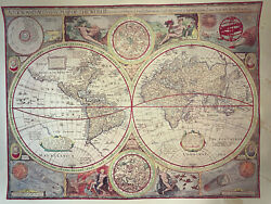 Vintage Reproduction Maps- World, North And South America, Europe, And Africa