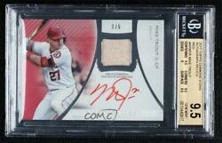 2017 Topps Diamond Icons Relics Red /5 Mike Trout Ar-mtr Bgs 9.5 Auto