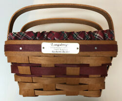 1993 Vintage Longaberger Bayberry Christmas Basket W/liners