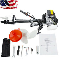 New 4 Stroke 3.6hp Heavy Duty Outboard Motor 55cc Boat Engine Cooling System Us
