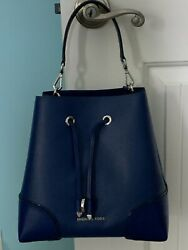 NWT💙Michael Kors Mercer Gallery Convertible Bucket Leather Bag $185.99