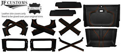 Orange Stitch Leather Covers For Defender 90 83-06 Interior Upholstery Top Kit