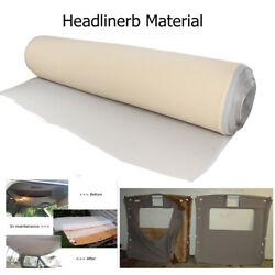 Beige Headliner Replacement Fabric Sagging Upholstery Material Back Foam 72x60