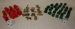 Monopoly Deluxe Edition Gold Color Tokens Houses Hotels 1998 Replacement Pcs