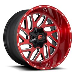 22 Inch Candy Red Wheels Rims Lifted Ford F350 Superduty Fuel Triton D691 22x10
