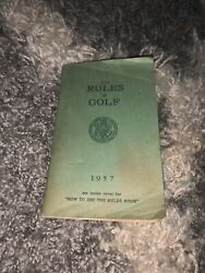 Vintage The Rules Of Golf 1957 Edition