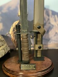 Okc-3s Display Stand For The Usmc Bayonet And Scabbard.