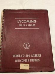Lycoming Vo-360 A. Engine Parts Manual
