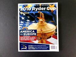 Ryder Cup Souvenir Book 2010 Wales Uk Oct 2010195 Pgscourse And Player Info