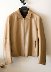 Neil Barrett Debut Collection Fw00 Menand039s And039backpackand039 Leather Jacket L Tan Camel