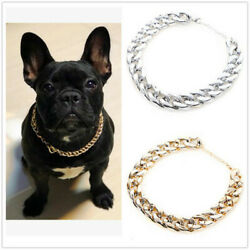 Silver Pet Choke Chain Necklace Collar Small Cat Dog French Bulldog Puppy Teddy